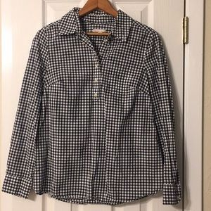 Cotton Maternity Gingham Blouse